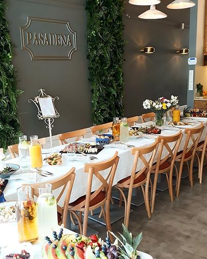 Restauracja Pasadena Pl. Grzybowski w Warszawie  Projekt rearanżacji wnętrza lokalu  2018 r.