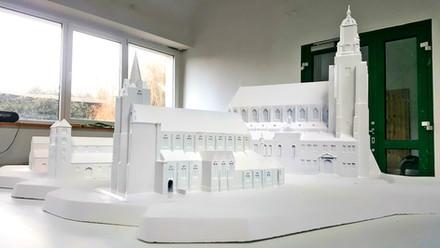 Projekt makiety na potrzeby utworzenia Traktu Królewskiego w Gnieźnie