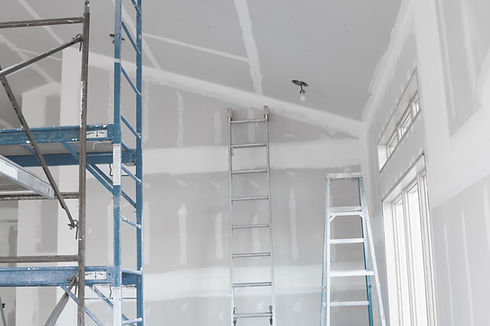 Drywall Installation job on the Interior of the Home.