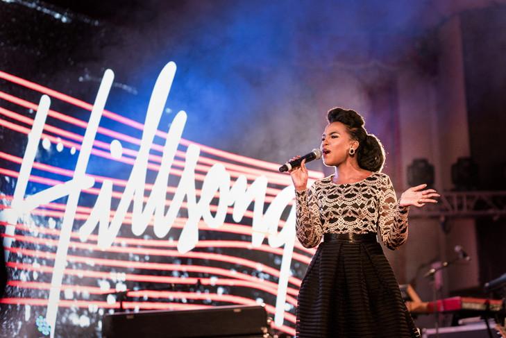 Joyce Omondi performing at Hillsong Keny