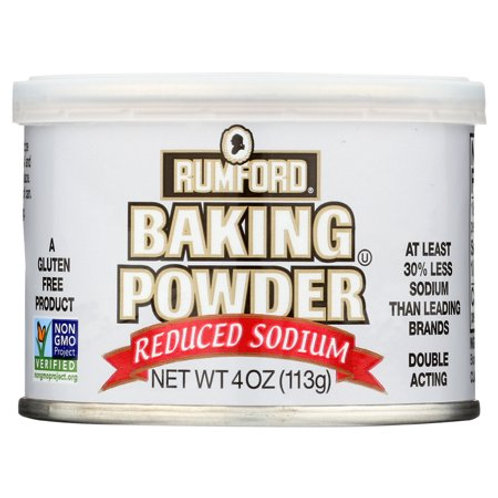 Rumford Baking Powder 4oz Reduced Sodium