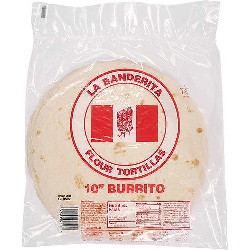 """La Banderita 10"""" Flour Tortillas"""