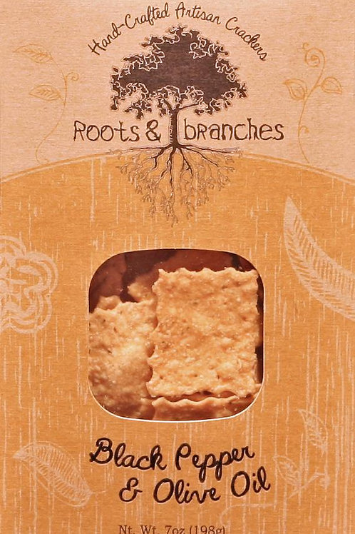 Roots & Branches Black Pepper and Olive Oil Crackers