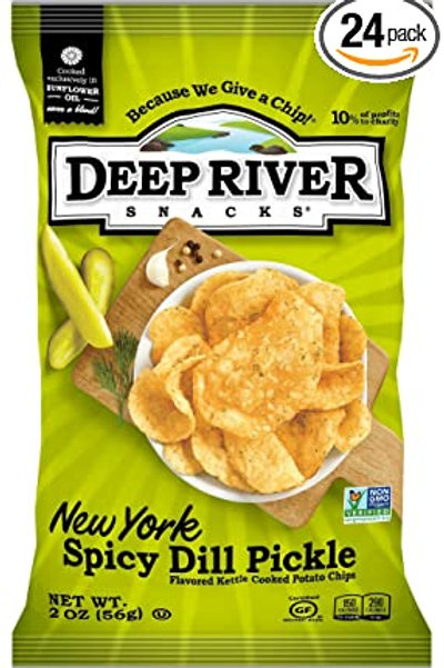 Deep River Spicy Dill Pickle Chips 2oz