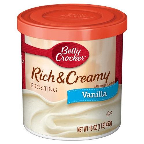 Betty Crocker Rich & Creamy Vanilla Frosting 16oz