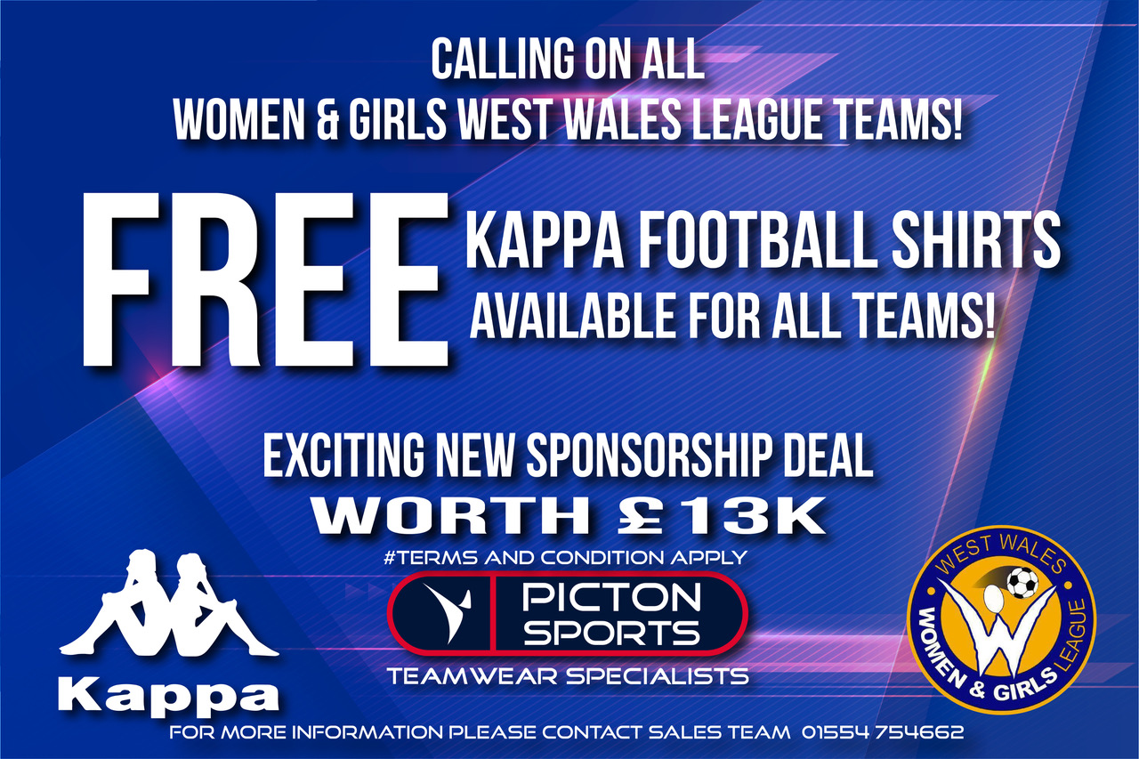 Women & Girls West Wales League KAPPA DE
