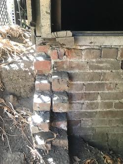 Original 1884 brick foundation