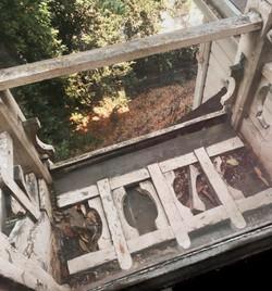Tower balcony wooden railing