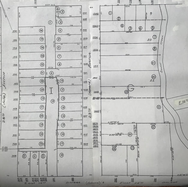 1885 property sold and divided
