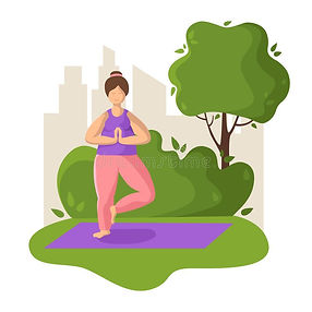 yoga-different-people-young-plus-size-wo