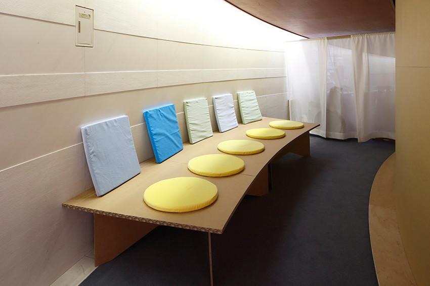 パニックになった人が休める「クワイエットルーム」/写真:木奥恵三