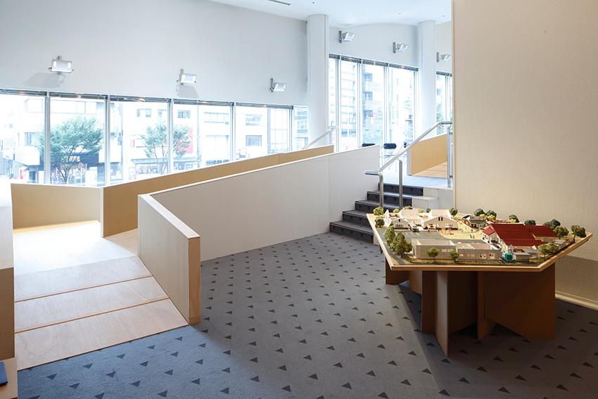やまなみ工房のジオラマ模型/写真:木奥恵三