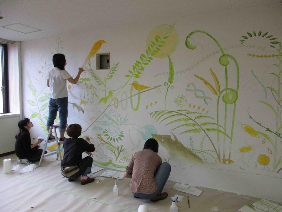 壁画制作の様子