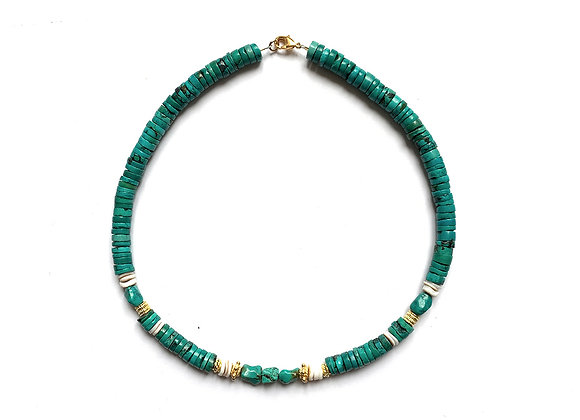 """Collier """"BAGAN"""" turquoise"""