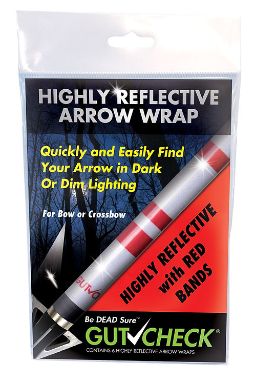 Highly Reflective Arrow Wrap - Red