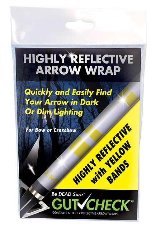 Highly Reflective Arrow Wrap - Yellow