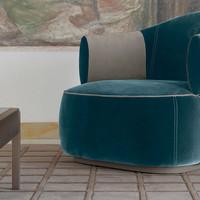 tr larzia armchair, band coffee table, b