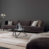 TR Hadel sofa and armchair _Tosco coffee