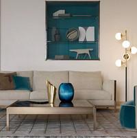 tr band sofa, larzia armchair, pouf 414