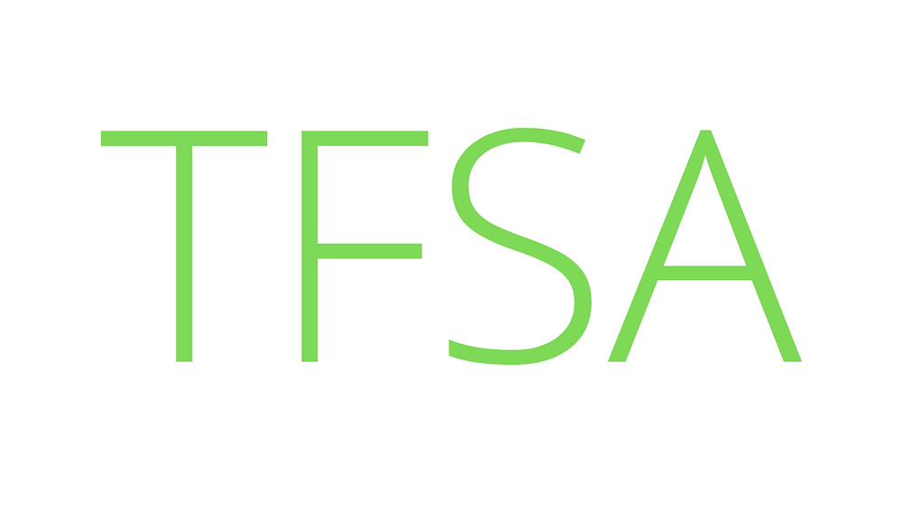 "Green letters spelling ""TFSA""."