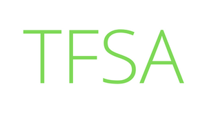 """Green letters spelling """"TFSA""""."""