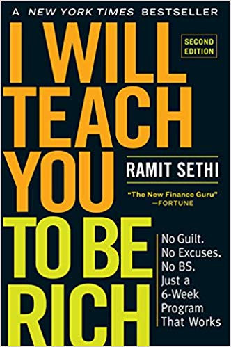 """The book cover of """"I will teach you to be rich"""" by Ramit Sethi"""