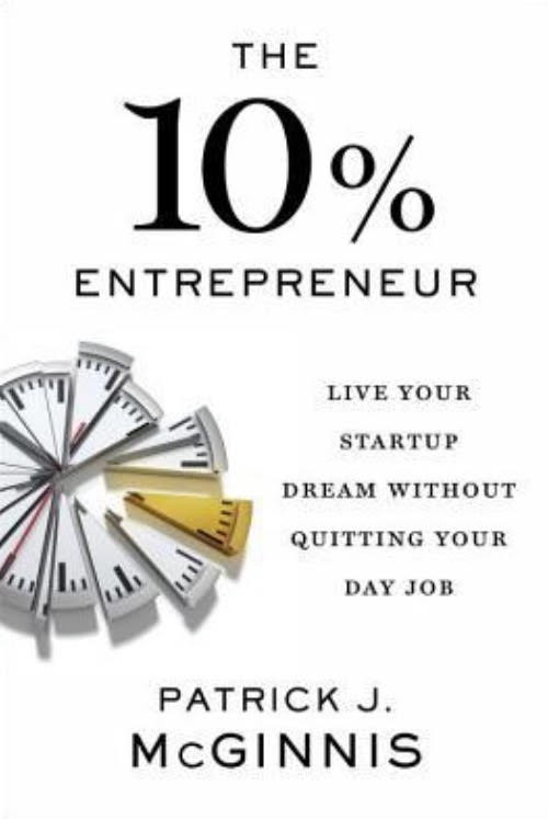 """The cover of the book titled """"The 10% Entrepreneur"""" by Patrick J. Mcginnis"""