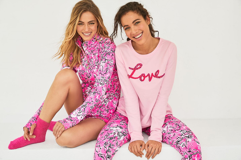 Lilly Pulitzer breast cancer awareness print with purpose