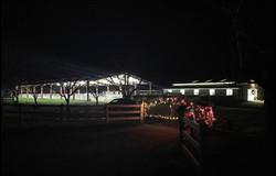 Xmas lights on Gate