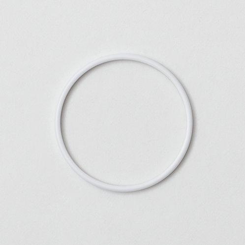 A06- White Acetate Bezel