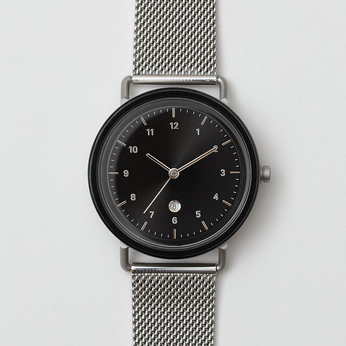 S1-S21 (BLK/ SIL CASE- BLK DIAL/ SIL M.STRAP)