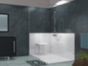 Provence salle de bain, douche senior PREMIUM