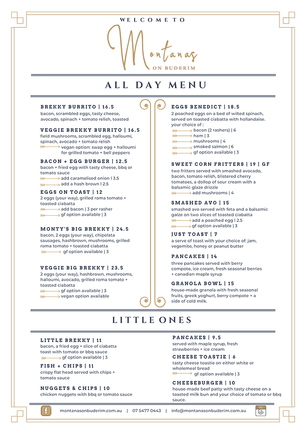 montana's all day menu