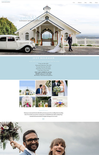 Catch & Kiss Wedding Elopement Collections