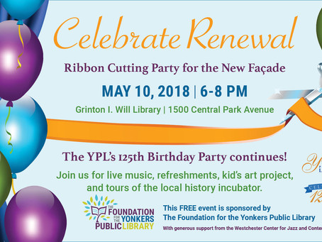 CELEBRATE RENEWAL!  Will Library Celebrates New Façade on May 10