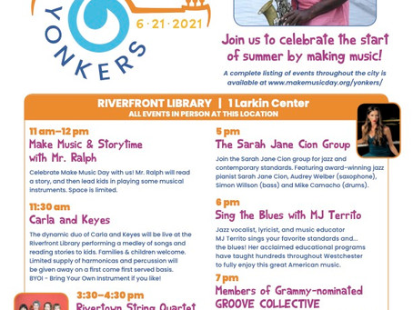 Make Music Yonkers Performance Schedule