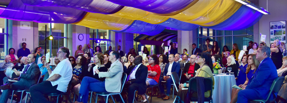guests participate in a lively auction.J