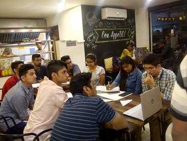 Class at Slate Cafe, Bangalore