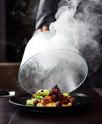 Dinner plate reveal_ three forks evnet caterer
