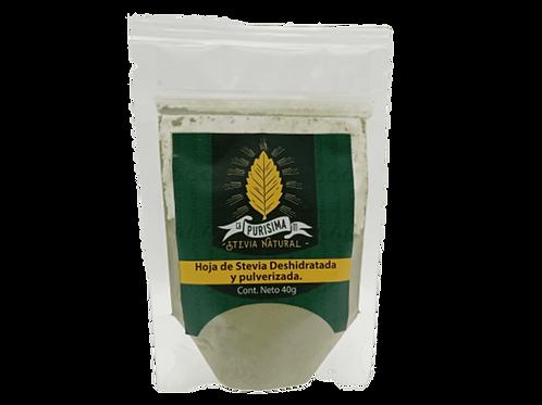 Stevia deshidratada y pulverizada