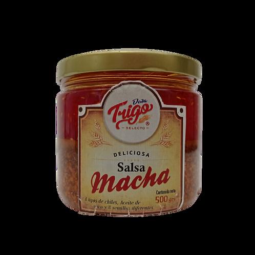 Salsa macha doña trigo con jamaica