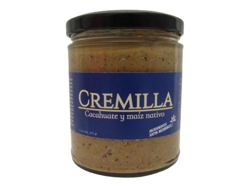 Cremilla de cacahuate con maíz nativo