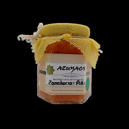 Mermelada Zanahoria-Piña endulzada con stevia