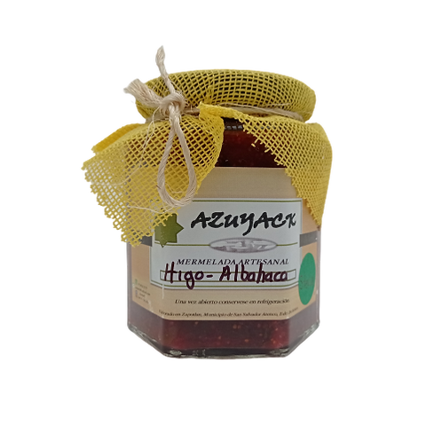 Mermelada Higo-albaca endulzada con stevia