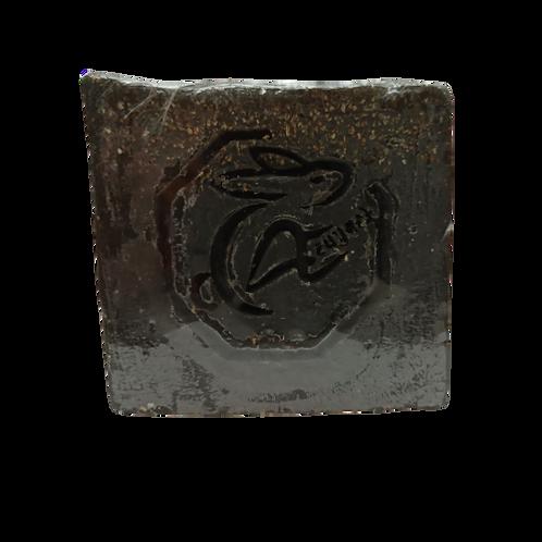 Jabón de  exfoliante de carbón activado