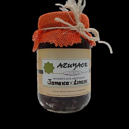 Mermelada Jamaica-Linaza