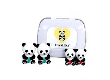 Boks med 2 str Panda maskeholdere fra HiyaHiya