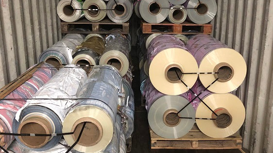 RR3881A 80,000 lbs BOPP printed rolls with possible laminate available.