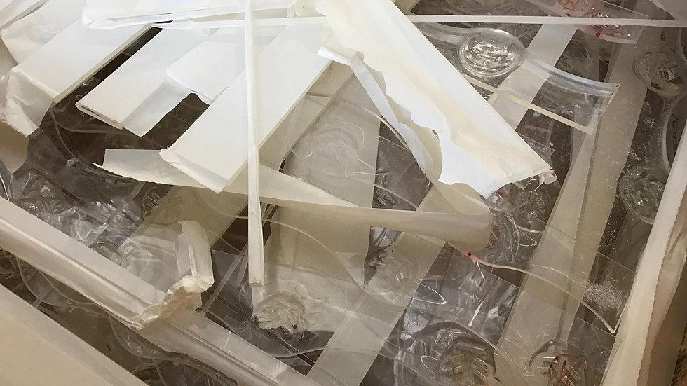 RR2753J 40,000 lbs PMMA Cast acrylic clear sheet. FAS Phoenix, AZ