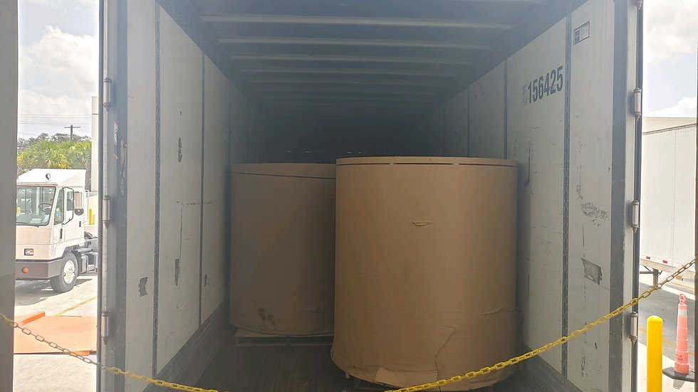 Offer RR4026F 10 container loads of Paper on rolls 20 ton each FAS Jacksonville